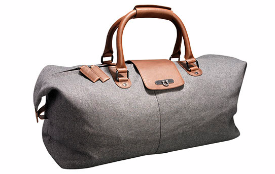 TWEED-WOOL-LEATHER-HOLDALL
